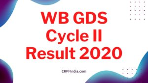 WB GDS Cycle II Result 2020