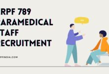 Photo of CRPF 789 Paramedical Staff Recruitment 2020 Offline Application Form